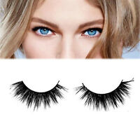 Hot Real Handmade Natural Mink Hair Long Thick Eye Lashes Black False Eyelashes