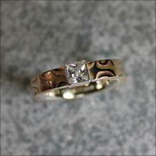 Designer Ring Mokume Gane Technik Zirkonia Goldschmiedearbeit Unikat Handarbeit