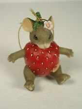 Charming Tails You're Berry Special 97/28 ornament mouse strawberry in box