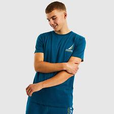 Nautica Mens Dandy T-shirt - Teal - Medium