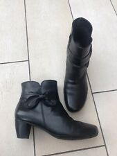 Hotter Moonstone Black Leather Zip Up Ankle Boots Size 7/41