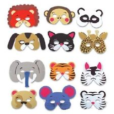 36 FOAM ZOO ANIMAL MASKS Kids Party Favor Lion Tiger Elephant Monkey Bear #AA64