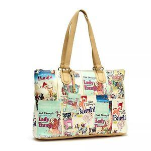 Disney Store Disney Classics Film Posters Tote Bag Bambi Dumbo Lady and Trump