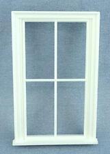 Dolls House Miniature White Plastic Victorian Window Frame 4 Pane DIY Builders