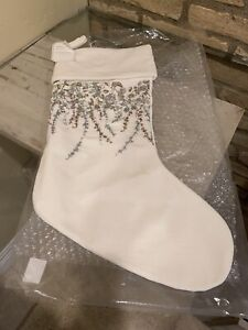 Pottery Barn Monique Lhuillier Neve Stocking Christmas Holiday Decor New