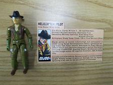Vintage 1983 Hasbro GI Joe Wild Bill Version 1 Figure W/ File Card NEEDS REPAIR