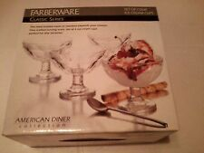 FARBERWARE  ICE CREAM CUPS  SET OF 4 CUPS american diner collection