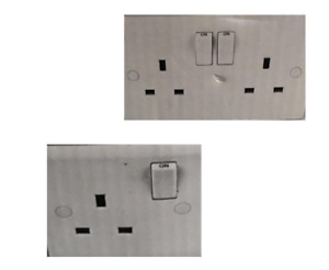 LAP SWITCHES AND SOCKETS 13 A 1 AND 2 GANG DOUBLE POLE SLIM