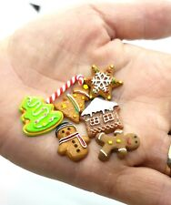 Doll House Accessories 1:12th Miniatures - 1 Set 7 of Xmas Cookies