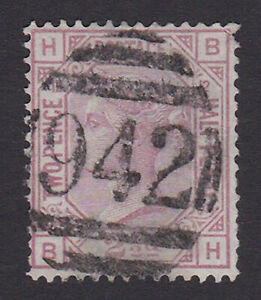 GB. QV. SG 141, 2 1/2d rosy mauve, plate 12. Used abroad, Larnaca, Cyprus.(942)