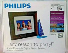 "Digital Photo Frame 7"" LCD Philips New Wood Panel SPF3470T/G7 Decor Wall Brown"