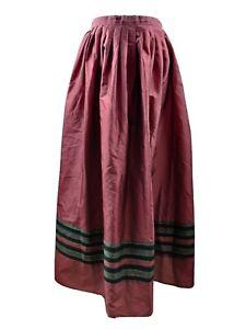 Vera Mont Vintage Skirt Aline Red Full Midi Pleated High Waist Blogger W30 UK 12