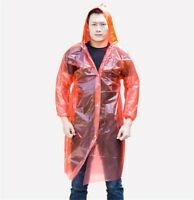 1 x Disposable Adult Emergency Waterproof Rain Coat PONCHO Hiking Travel Camping