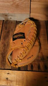 """Diamond Youth Catchers Mitt For Throws Right 9"""" Leather  *see pics*"""