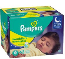 Pampers Swaddlers Overnights, Size 6, 42 Count