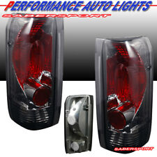 Set of Pair Chrome Smoke Taillights for 1989-1996 Ford F-150 F-250 F-350 Bronco