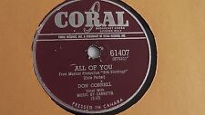 Don Cornell - 78rpm single 10-inch –  Coral #61407 All Of You