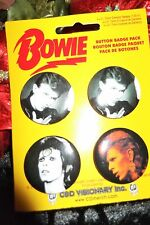 Nwt David Bowie Button Badge Pin Set Set Of 4 Collector Pins David Bowie Music