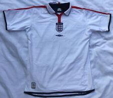 Inglaterra Umbro Retro Fútbol Top, Blanco para Hombre Talla Mediana