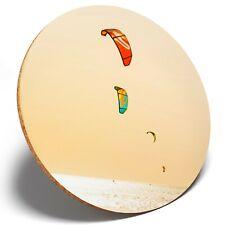 1 x Kite Surfing Water Sports - Round Coaster Kitchen Student Kids Gift #2475