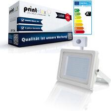 LED Floodlights 50W 6400 K IP65 Spotlight Floodlight White Flat with Motion