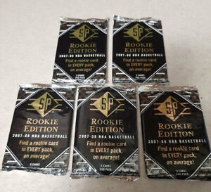 5x 2007-08 SP Rookie Edition Unopened SEALED Wax Packs - NBA - Kevin Durant RC