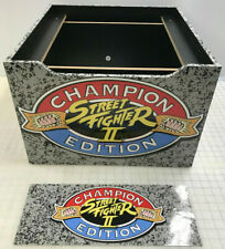 Arcade1up Cabinet Riser Graphics - Street Fighter 2 II Graphic Sticker Decal Set