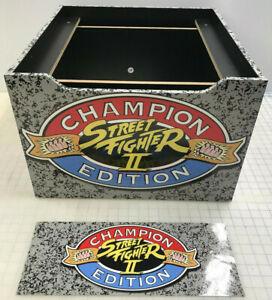 Arcade1up Cabinet Riser Graphics - Street Fighter 2 II Graphic Sticker Decal Set