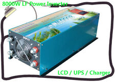 "32000W/8000W LF Pure Sine Wave 12V DC/110V AC Power Inverter 3.5""LCD/UPS/Charger"