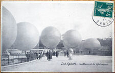 1911 French Aviation Postcard: Hot Air Balloon/Ballon - Gonflement de Spheriques