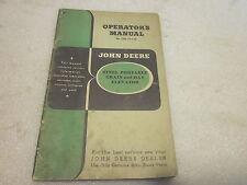 vintage John Deere Operator's Manual Steel Grain Hay Elevator OM-C4-7-46