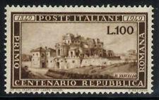 Italia 100° Repubblica Romana 1949 nuova perfetta MNH con certificato Cilio