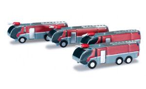 #520867 - Herpa Flughafenzubehör Feuerwehrfahrzeuge  - 1:500