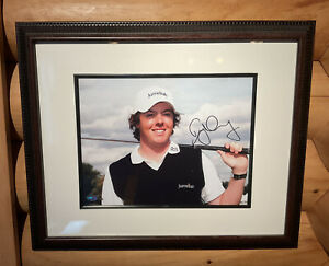 Rory Mcilroy framed signed autographed photo - PSA/DNA