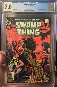 Swamp Thing #48 CGC graded 7.0 Alan Moore Story, John Constantine appearance