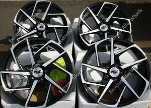 "18"" Black DVX Alloy Wheels Fits Volvo C30 C70 S40 S60 S70 S80 S90 V40 V50 5x108"