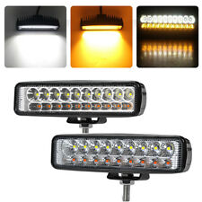 6in 20W LED Work Light Bar Amber White Pod SPOT FLOOD Fog Truck SUV Offroad Lamp