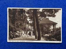 Sepia postcard: Dorset, Bournemouth, Pine Walk and new bandstand, posted 1935