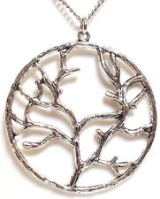 """WINTER TREE_Pendant on 18"""" Chain Necklace_Branch Life Earth Nature Buddhist_257N"""