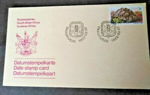 South West Africa 1980-1982 Twelve Date-Stamp Cards