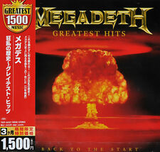 MEGADETH - GREATEST HITS: BACK TO THE START, 2011 JAPAN CD + OBI, SEALED!