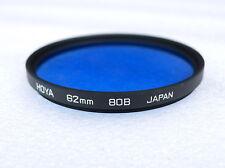 62mm HOYA 80B Blue Filter - Color Correction - NEW