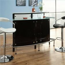 Coaster Bar Table Chrome/Black- 100139 BAR TABLE NEW