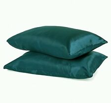 """KING - TWO SOFT """"SILK~Y"""" SATIN / SATEEN PILLOW CASE / COVER - TEAL COLOR(1 PAIR)"""