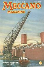 1949 MAY 33599 Meccano Magazine Cover Picture LIVERPOOL'S FLOATING CRANE MAMMOTH