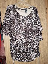new Notations Woman leopard print short-sleeve top, 1X