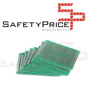 2 Placas prototipos doble cara 6x8cm - DOUBLE-SIDE PROTOTYPE PCB FIBRA DE VIDRIO