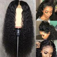 Unprocessed Brazilian Human Hair Wigs 360 Lace Front Curly Wig Baby Hair Bun C09
