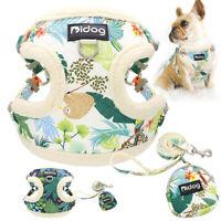 Front Leading Fleece Dog Harness And Leash Set with Treat Bag Adjustable Mesh