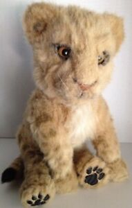 """WowWee Alive LION CUB Full Size Interactive 14"""" Plush Wow Wee Leopard Toy E8"""